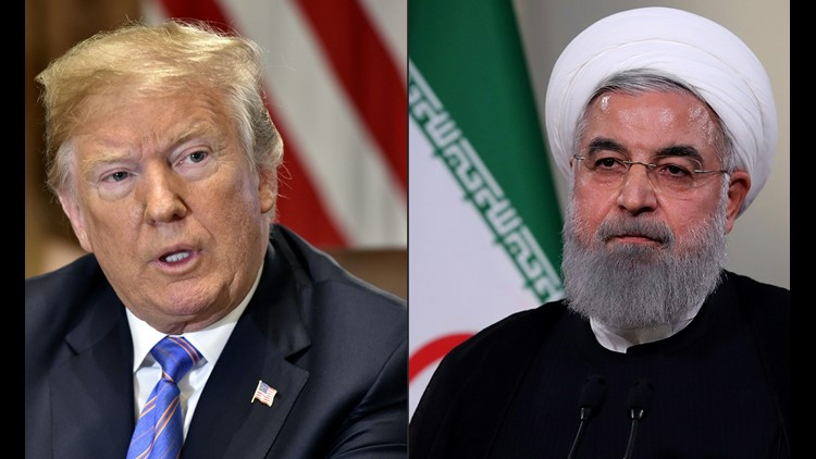"""Anyone doing business with Iran will NOT be doing business with the United States. I am asking for WORLD PEACE, nothing less!"" Trump said Tuesday."