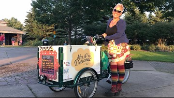 Mrs. Delicious dispenses pay-it-forward ice cream