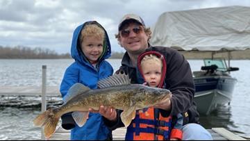 Pint-sized Minnesota angler reels in huge walleye on toy pole