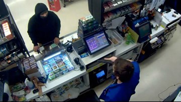 'I'm sorry. I'll leave': Ax-wielding robber one-upped by store clerk's handgun in Portland