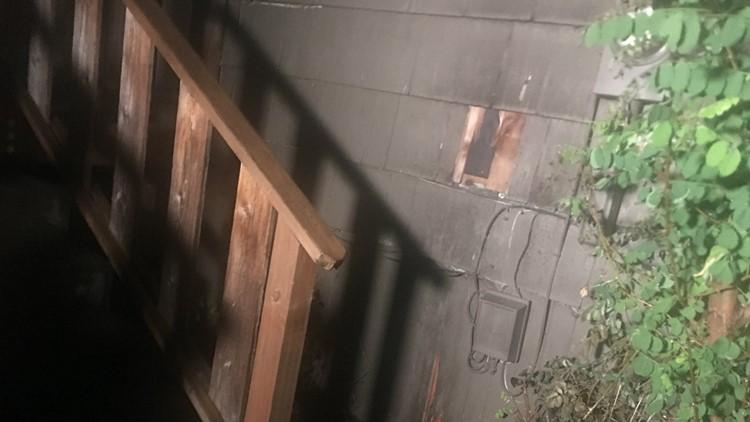 Damaged home arson