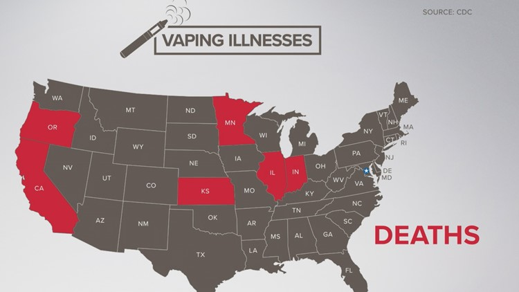 Seven vaping-related deaths have been reported as of Sept. 17, 2019.