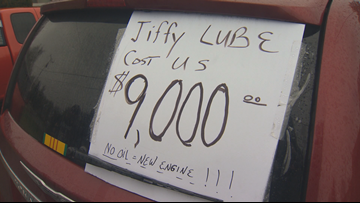 Oregon man wins $9,000 court ruling over disputed Jiffy Lube oil change