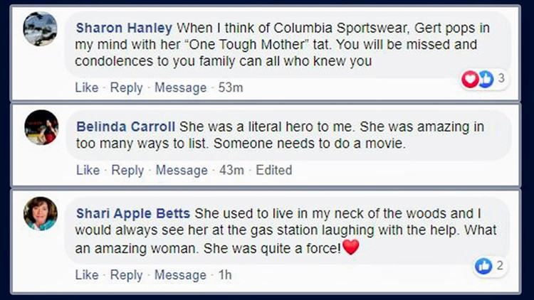 Viewer comments about Gert Boyle