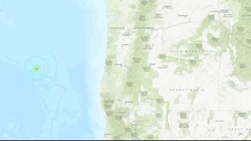 Series of earthquakes strike off Oregon Coast