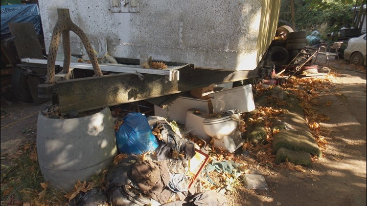 Abandoned RVs, toilets and mounds of trash littered the property for months.
