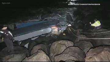 'Most amazing maritime rescue': Fishermen saved from capsized boat off Oregon coast