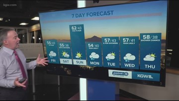 A wet Friday afternoon to kick-off Oregon's spring break