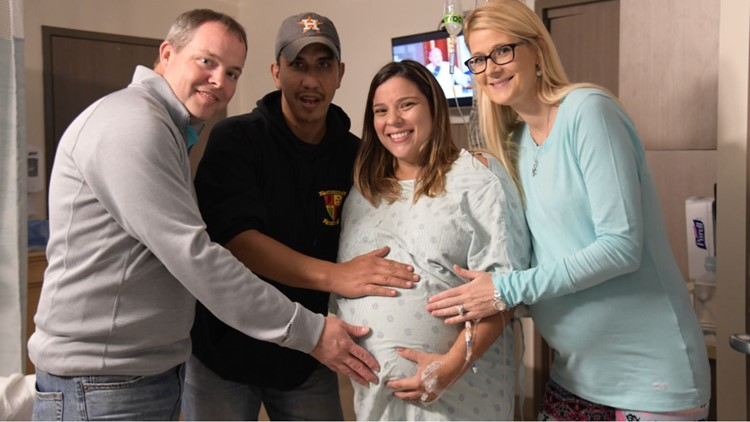 Two miracle babies born weeks apart after woman, surrogate become pregnant at the same time