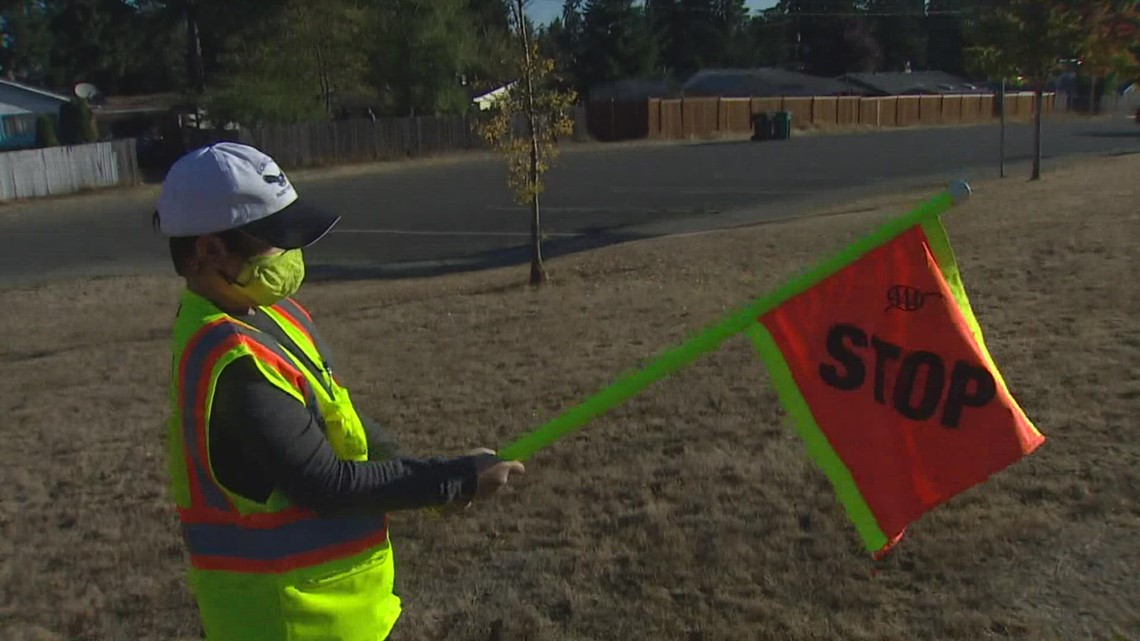 Washington program that trains student crossing guards slow to start this year due to pandemic