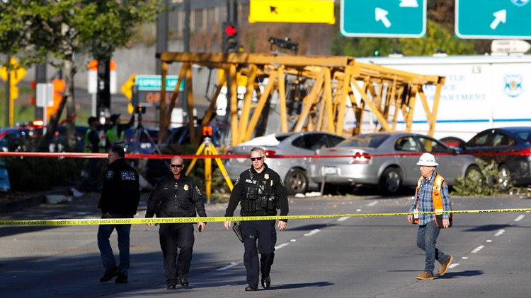 Families of two Seattle crane collapse victims sue companies tasked with dismantling crane