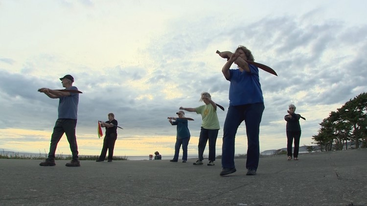 You can learn the art of T'ai Chi with a sword on Whidbey Island