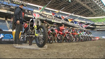 Supercross Riders take over Seattle's Centurylink Field