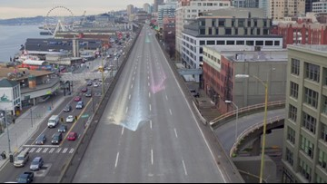 WATCH: Aerial drone tour of closed Seattle viaduct