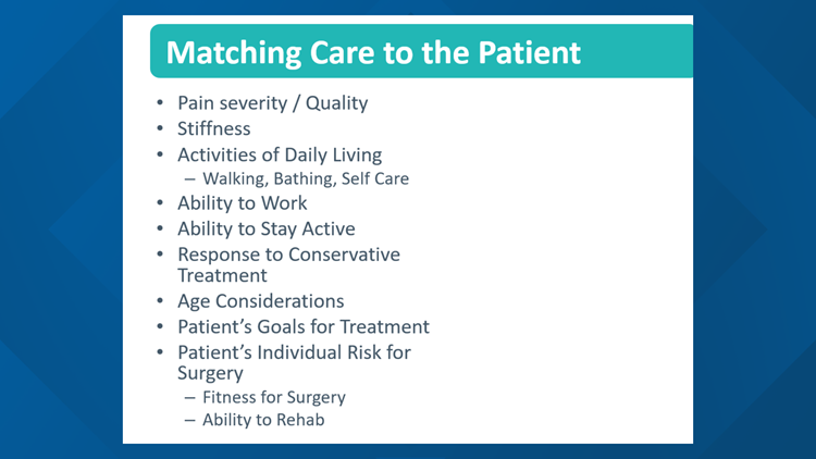 Evaluating patient quality of life