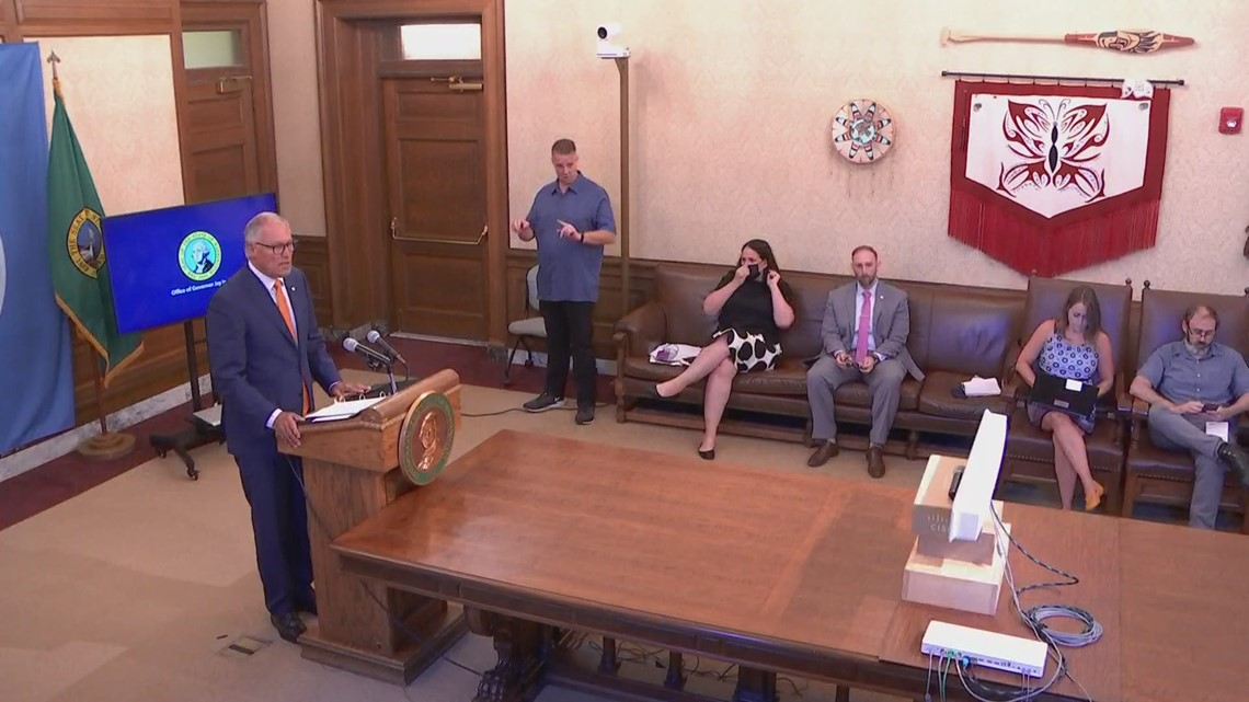 Gov. Inslee on the state's latest response to the COVID-19 pandemic