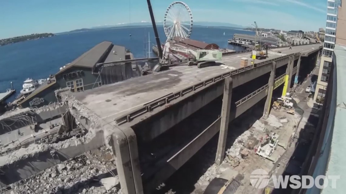 Timelapse video shows viaduct demolition from above