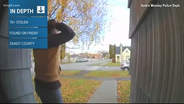More than 70 stolen packages found in Skagit county