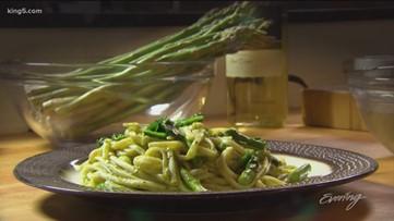 Lemony Asparagus Pesto Fettuccine is a sure family pleaser - Makini's Kitchen - KING 5 Evening
