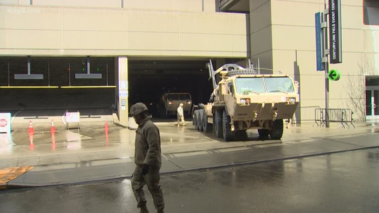 Army starts building field hospital at Seattle's CenturyLink Field Event Center