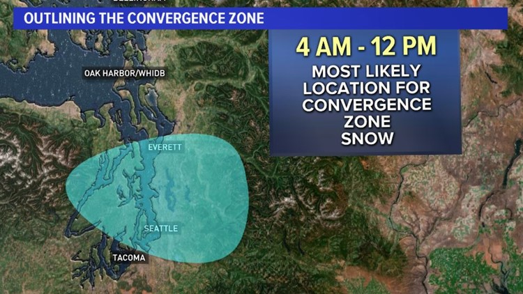 Wed convergence zone snow