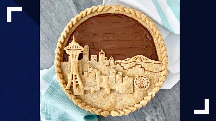 Bee and the Baker Seattle skyline pie