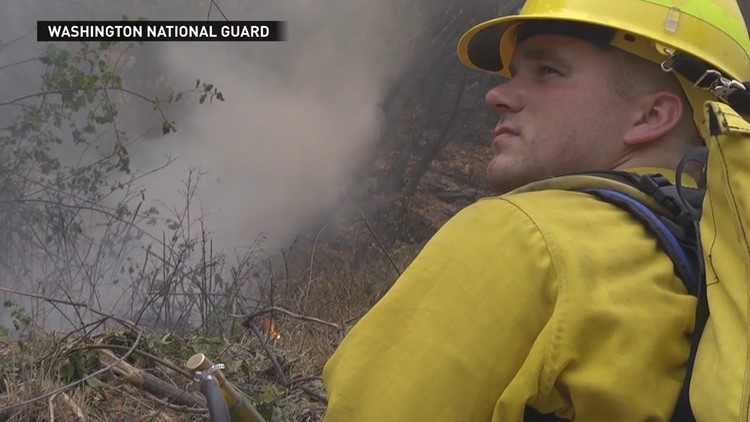 Washington National Guard fighting wildfires get pay raise under new law