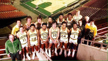 The 1979 Seattle SuperSonics return home to celebrate their 40-year anniversary