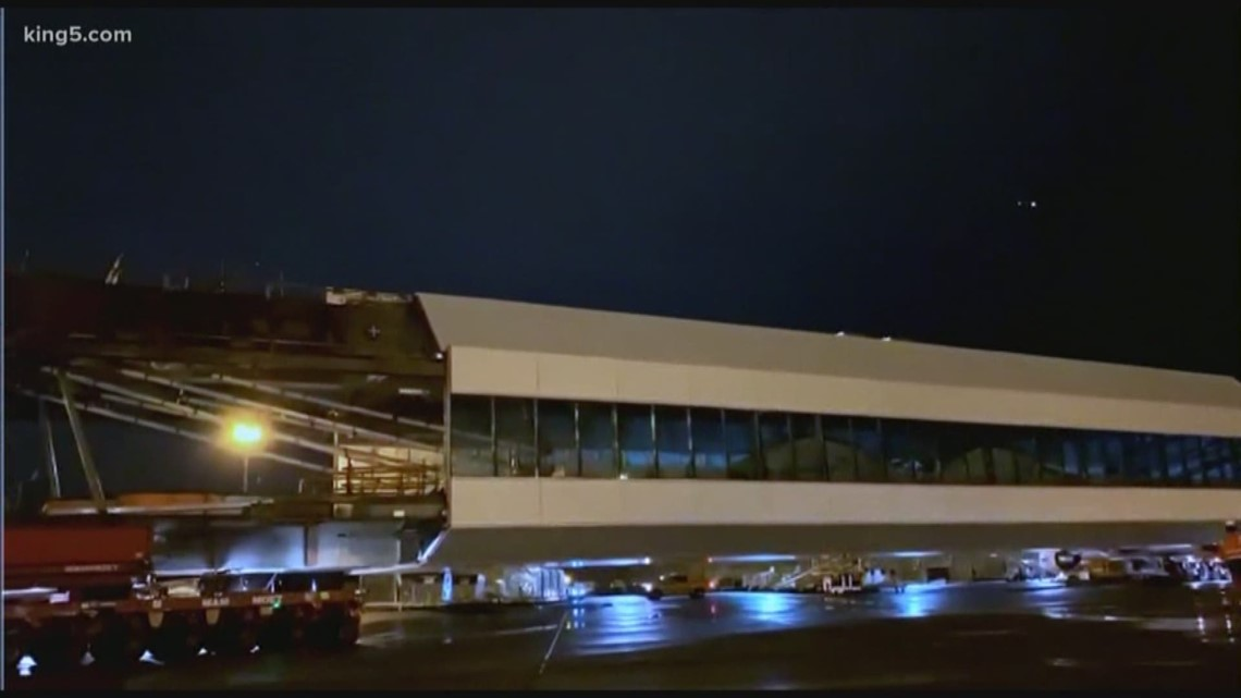 Sea-Tac Airport new aerial walkway at International Arrivals Facility