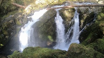 Sol Duc Falls is the must-see pay off to a short hike in the Olympic National Forest