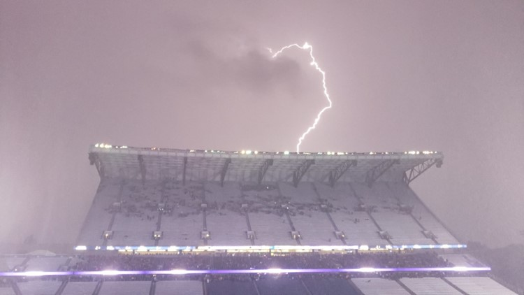 Why was there so much lightning Saturday?