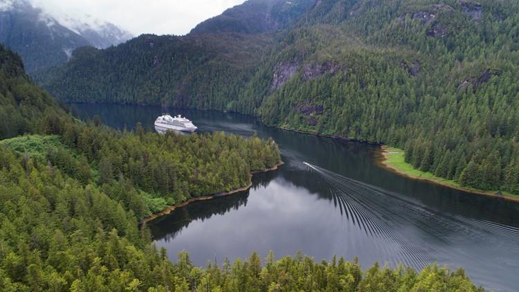 Seabourn Sojourn aerial - Misty Fjords, Alaska