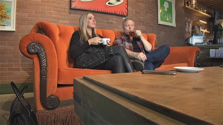 Orange couch at Central Perk