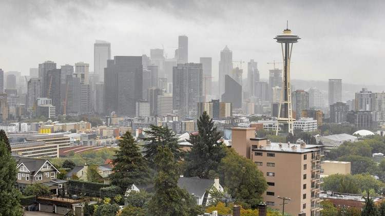 Light rain spotted in Seattle for the first time in over 30 days