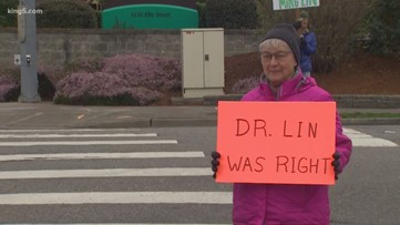 Protest after doctor allegedly fired for criticizing Bellingham hospital's coronavirus response