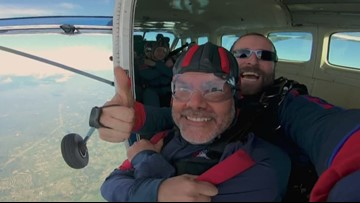 Mercer Island principal skydives to inspire students to face fears