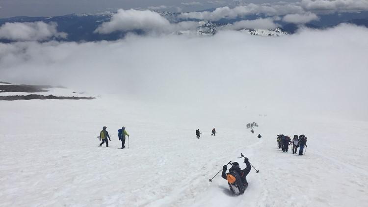 Camp Muir on Mount Rainier.