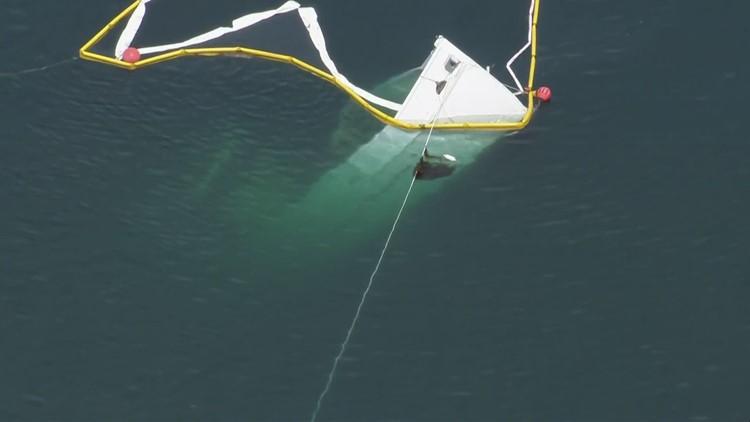 Norwester slowly sinking off San Juan Islands