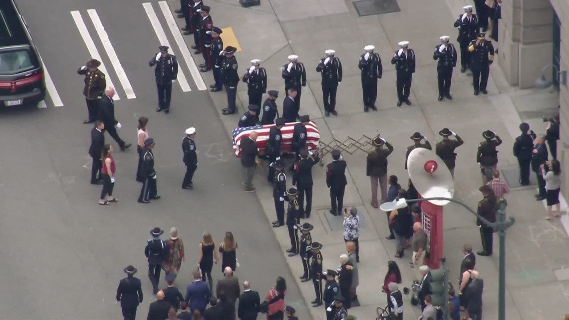 Procession for fallen Seattle Police Officer Lexi Harris