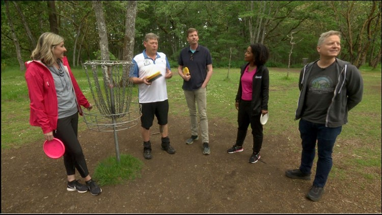 What do you get when you combine golf and frisbee? Disc golf! - Field Trip Friday