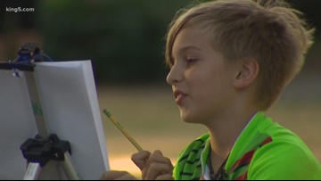 Maple Valley kid artist draws free portraits to make community 'feel special'