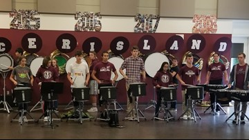 Mercer Island marching band aids Puerto Rico hurricane recovery