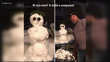 Oak Harbor man makes snowmen every winter for his wife battling medical conditions