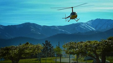 Tour Lake Chelan wineries by helicopter