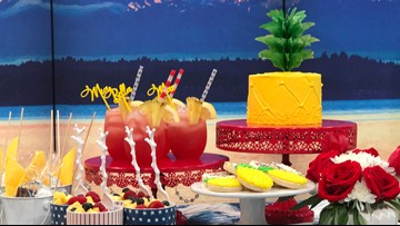 Throw a Stars, Stripes, and Pineapples 4th of July Party