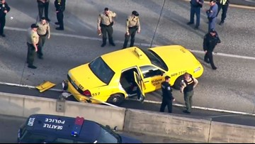Police pursuit ends in crash on I-5 near Seattle's Northgate Mall