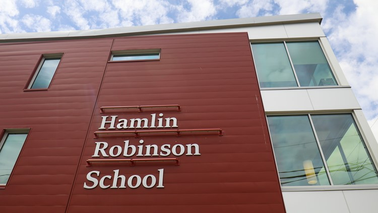 The Hamlin Robinson School, located in South Seattle, is designed for kids with learning disabilities, like dyslexia and dysgraphia. (Photo: Taylor Mirfendereski | KING 5)