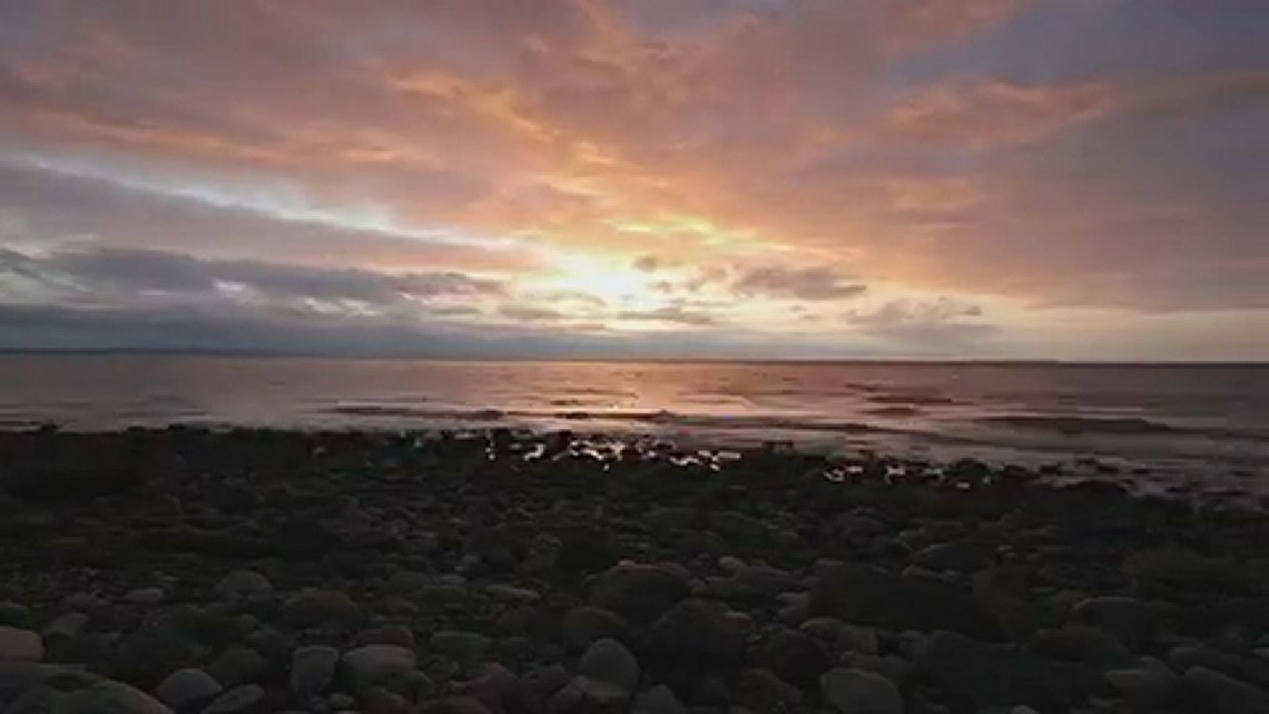 Sunset at Fort Ebey State Park