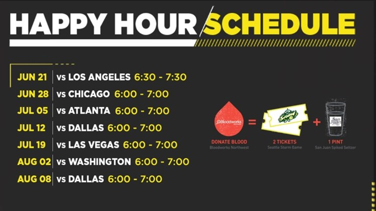 Storm Happy Hour Schedule