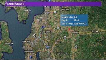 3.0 earthquake hits near Monroe